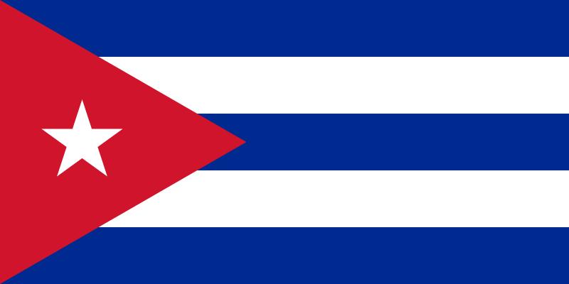 Kuba - Flagge