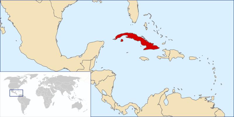Kuba - Karte von Kuba