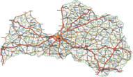 Lettland Karten
