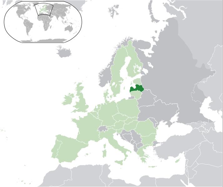 Lettland Lage