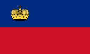 Liechtenstein-Flagge