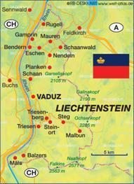 Liechtenstein Karten