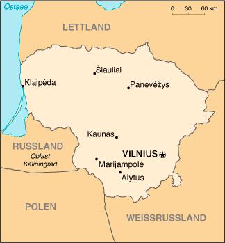 Litauen Nachbarstaaten