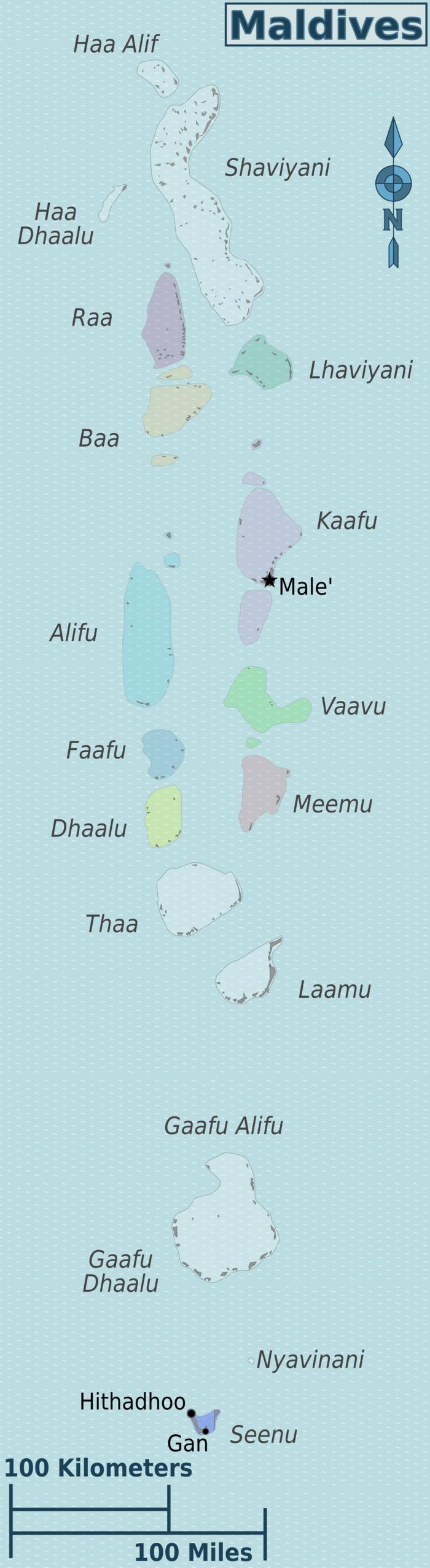 Malediven Landkarte Grossansicht
