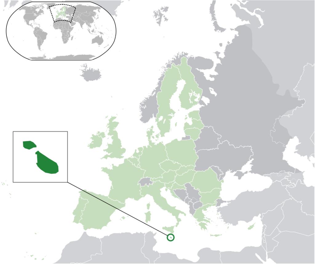 Malta Karte Lage in der EU