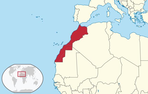 Marokko Lage