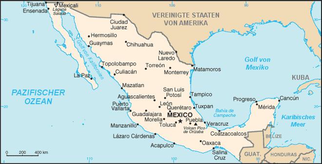 Mexiko Nachbarstaaten