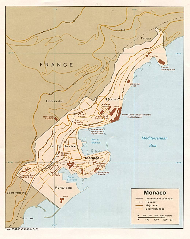 Monaco Landkarte