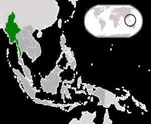 Myanmar (Birma, Burma) - Lage