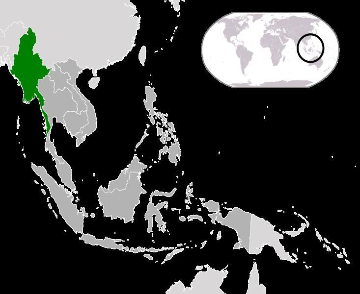 Myanmar - Lage