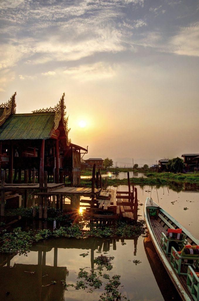 Myanmar - Sonnenuntergang