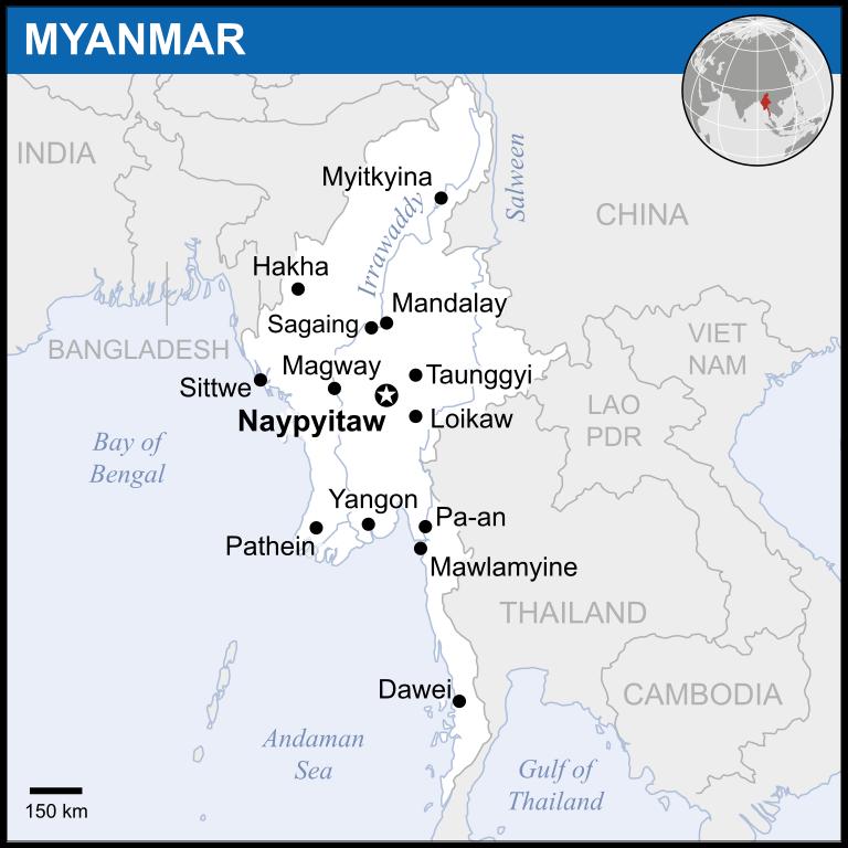 Myanmar - Städte