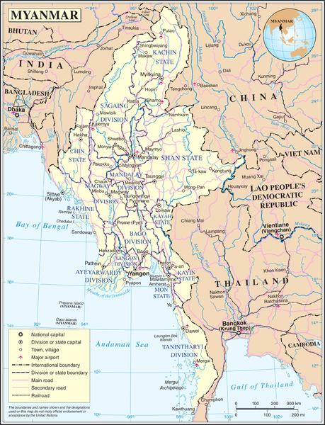 Myanmar - Strassennetz