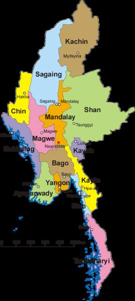 Myanmar - Administrative Regionen