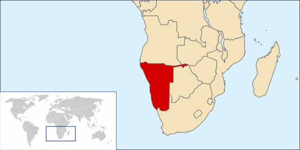 Namibia Lage