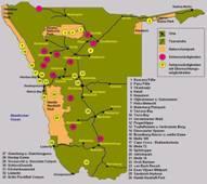 Namibia Touristenkarte