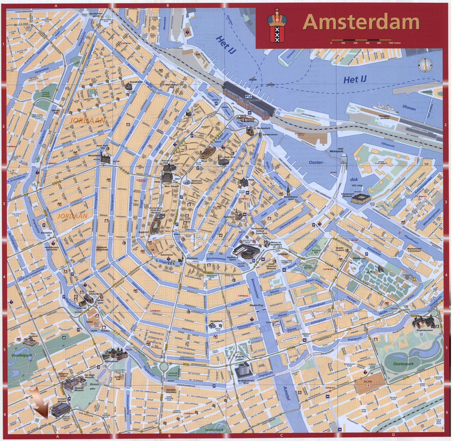 Amsterdam Stadtplan