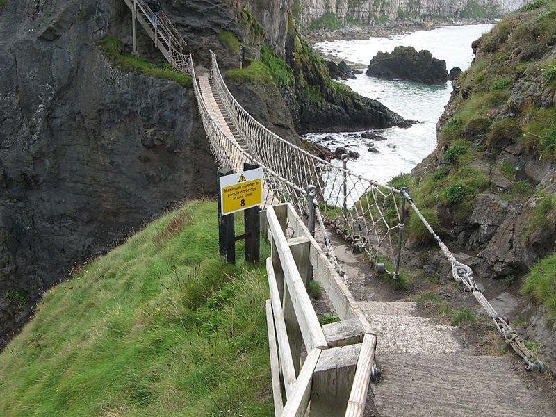 Nordirland Carrick-a-Rede Haengebrücke