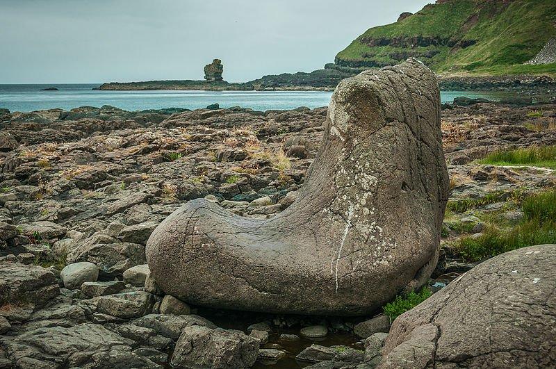 Nordirland Giant's Causeway Schuhfelsen