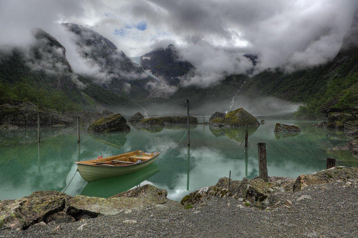 Norwegen Bondhus See