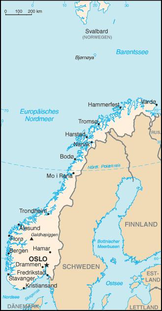 Norwegen Nachbarstaaten