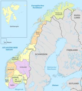 Norwegen - Politische Gliederung