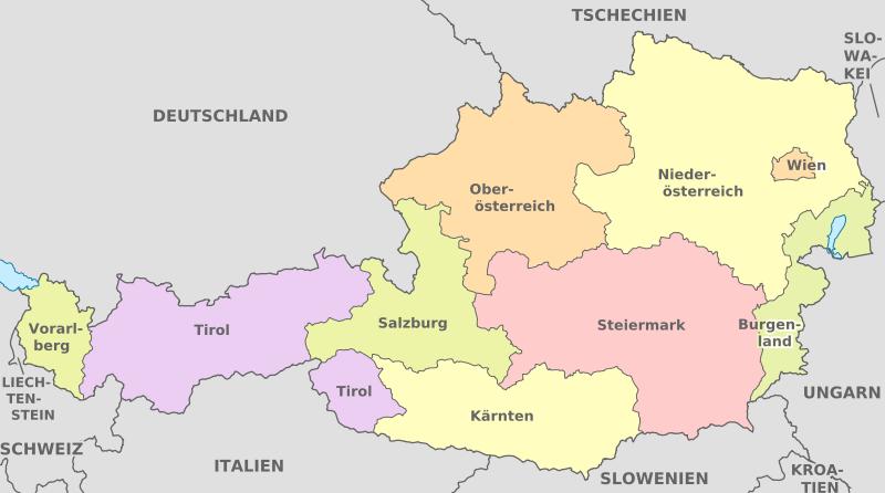 Österreich - Verwaltungsgliederung