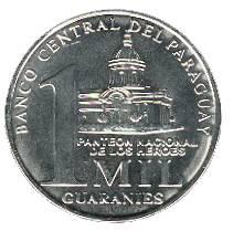 Paraguay-1000-Guaranies-Muenze