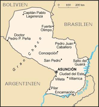 Paraguay Nachbarstaaten