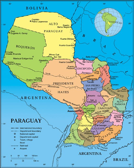 Paraguay Regionen