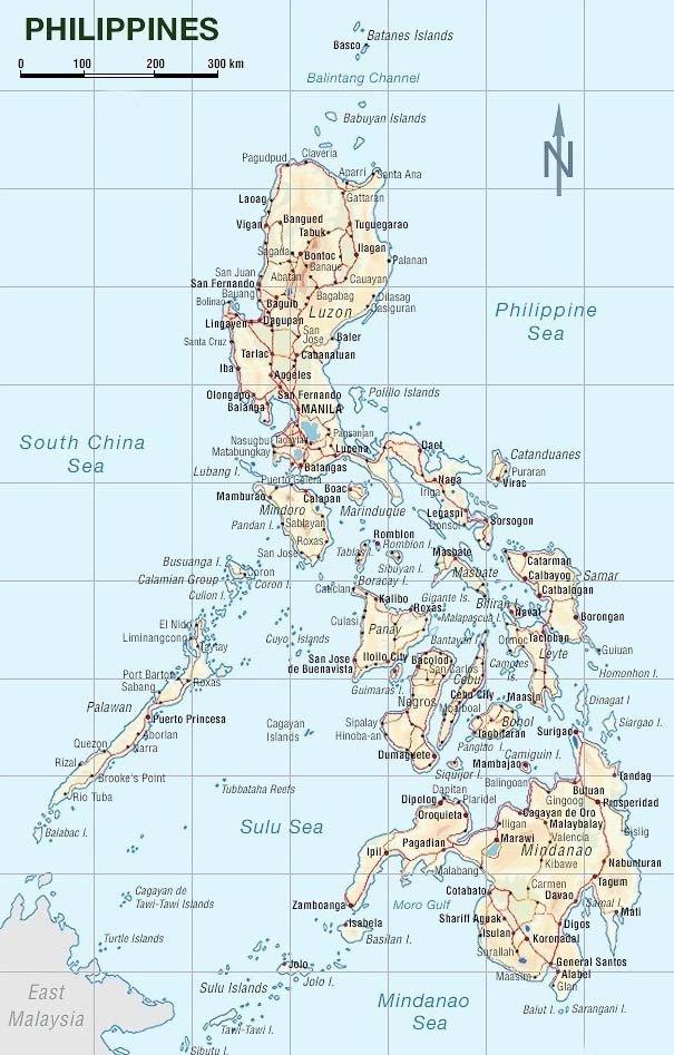 Philippinen Karte