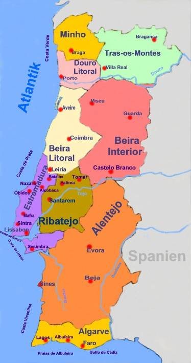 Portugal Regionen