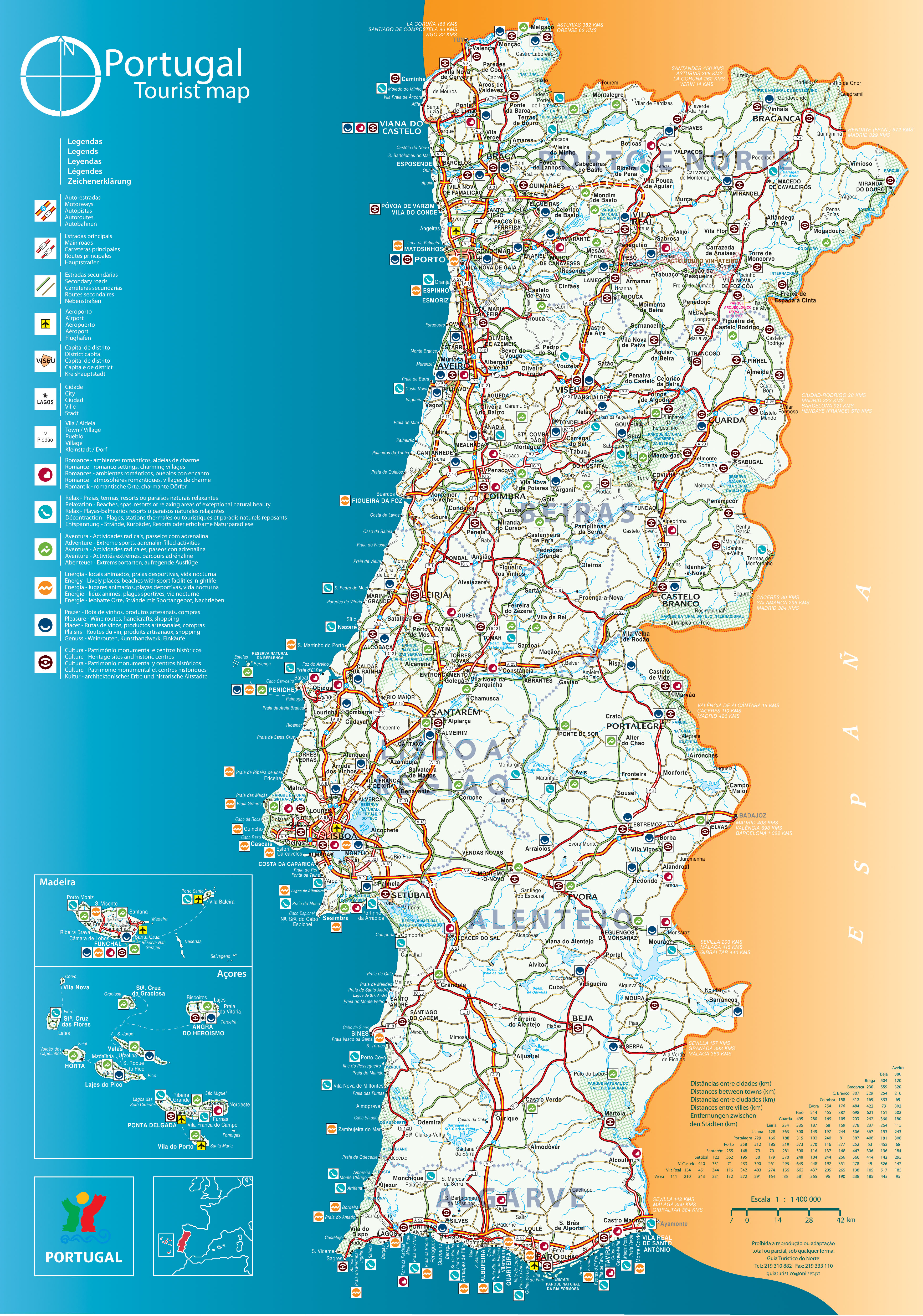 Portugal Strassenkarte