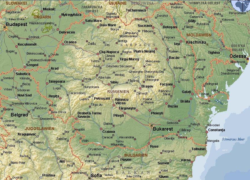 Rumänien Karte