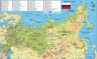 Russland Karten