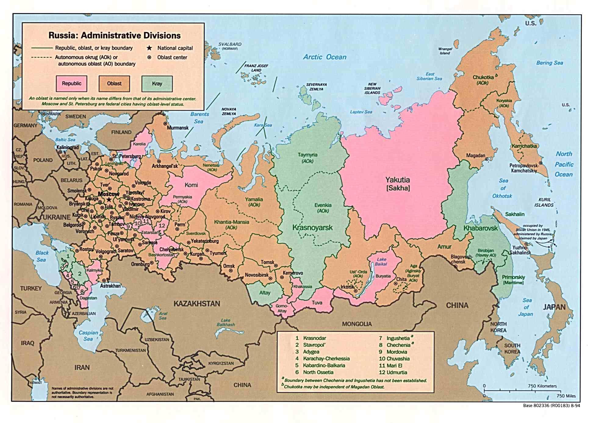 Russland Regionen