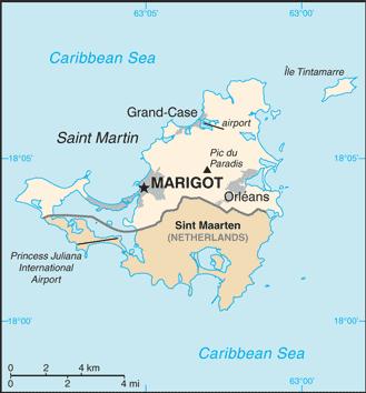 Saint Martin-Karte