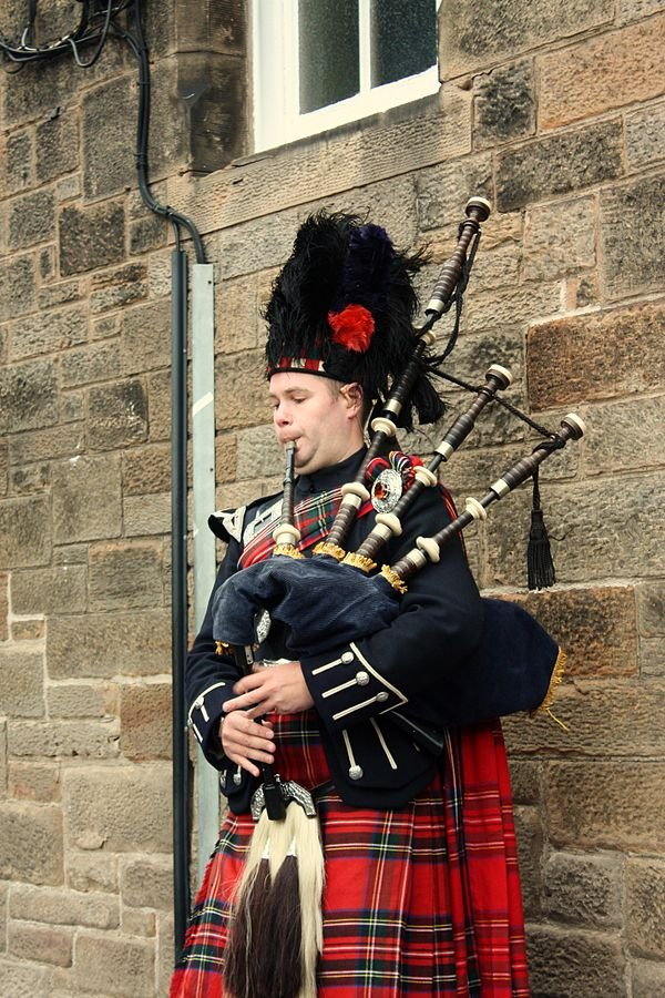 Schottland Edinburgh Dudelsack Spieler