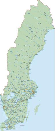 Schweden Karten