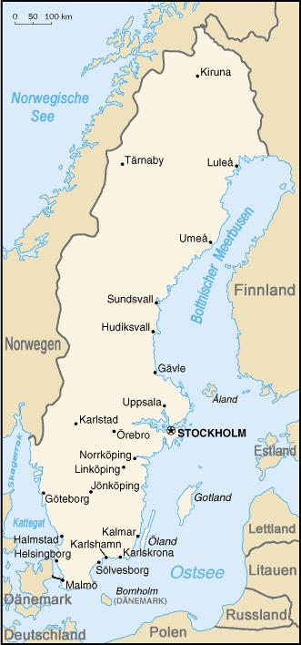 Schweden Nachbarstaaten