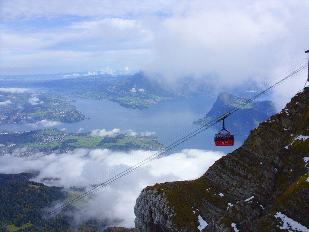 Schweiz Blick vom Pilatus