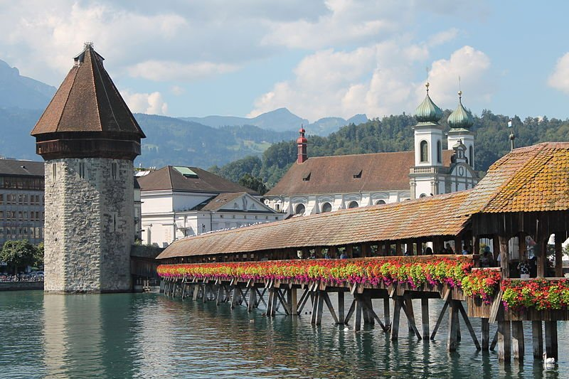 Schweiz Luzern Kapellbrücke