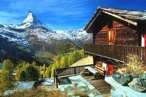 Schweiz Matterhorn Blick von der Riffelalp