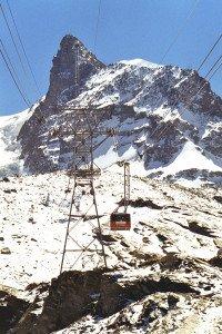 Schweiz Zermatt Seilbahn auf das Klein Matterhorn
