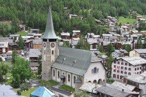 Schweiz Zermatt katholisches Pfarrkirche St. Mauritius