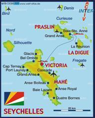 Seychellen Karten
