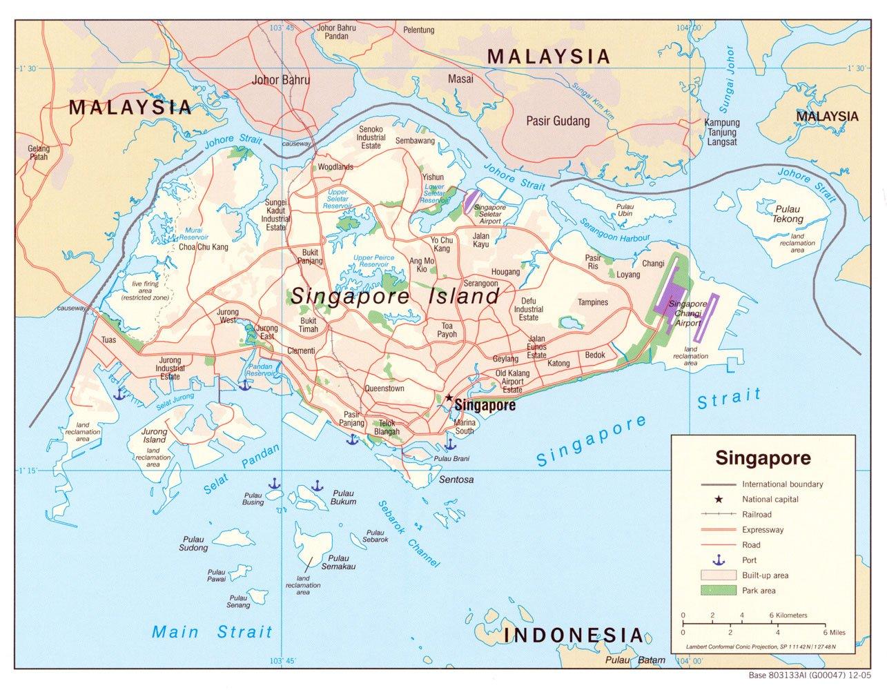Singapur Landkarte
