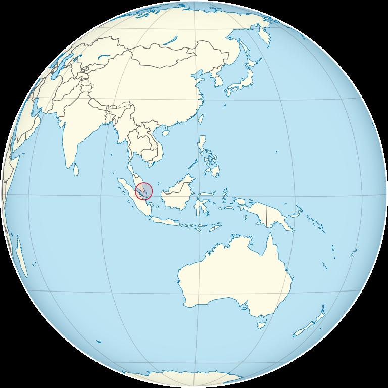 Singapur Lage in Asien