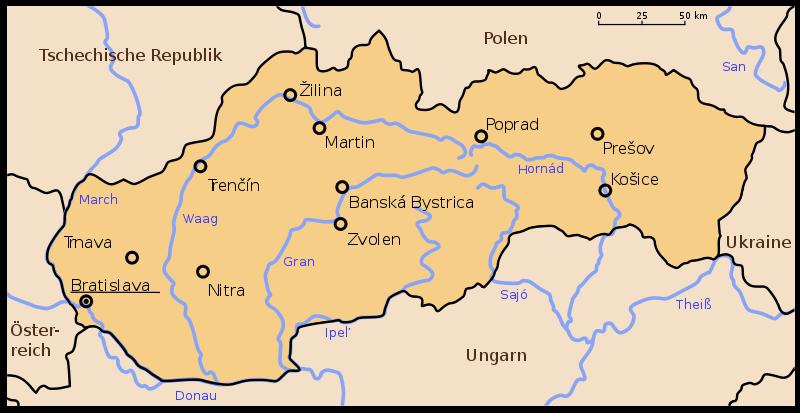 Slowakei Nachbarstaaten