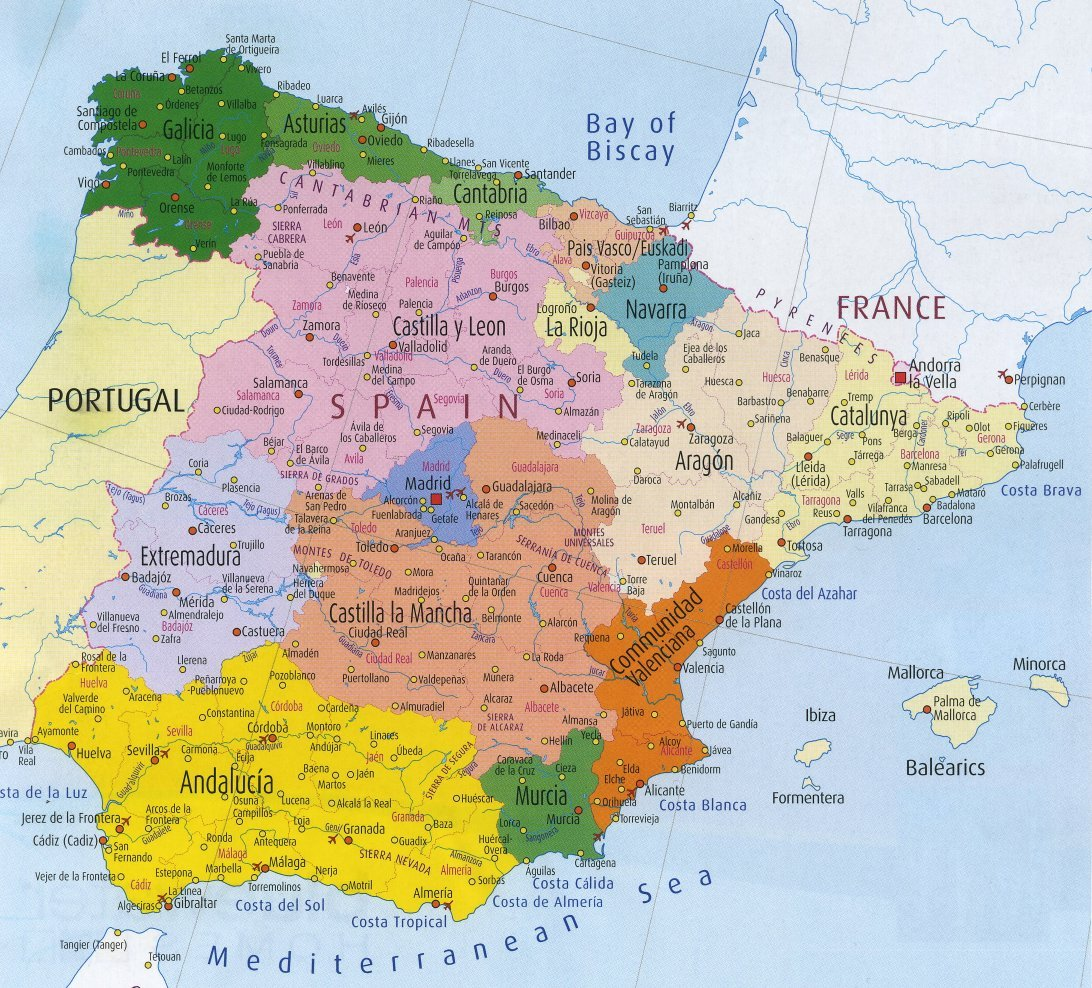 Spanien Fotos Karte Madrid Bildergalerie Fotogalerie